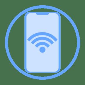 科技感蓝色扁平化ui图标手机信号wifi