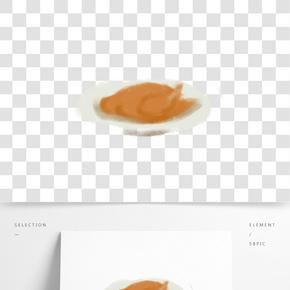卡通美味的烤雞免摳圖