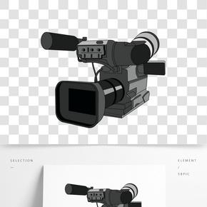 黑色新聞攝影機插畫