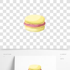 暖色的可愛馬卡龍小蛋糕