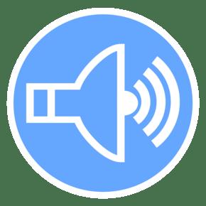 简约扁平化蓝色科技感音量UI图标