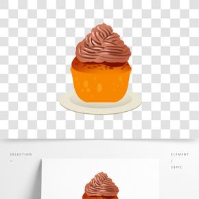 面包蛋糕卡通插畫