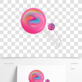 簡約風格零食棒棒糖插畫 PNG圖片