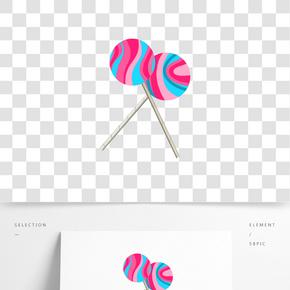 簡約風格棒棒糖插畫 PNG圖片
