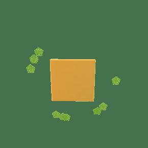绿色小花正方形对话框