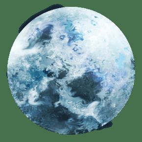 宇宙星空地球插画