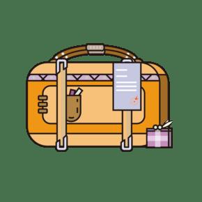 扁平风旅行箱行李