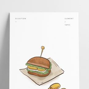 洋快餐漢堡和雞塊
