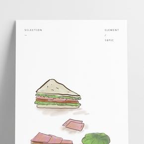 西餐三明治制作和配料