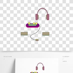 高檔游戲機的插畫