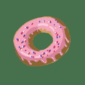 粉红色草莓酱甜甜圈PNG