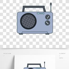 新聞錄音機裝飾插畫