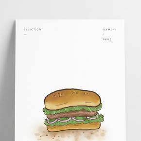 美式快餐牛肉漢堡