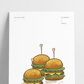 食物美式快餐漢堡