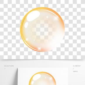 陽光照射氣泡插畫