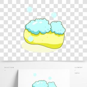 淡黃色家用香皂插畫