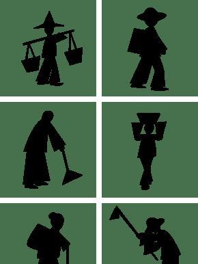 劳动节劳动的剪影