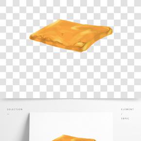 零食面包卡通插畫