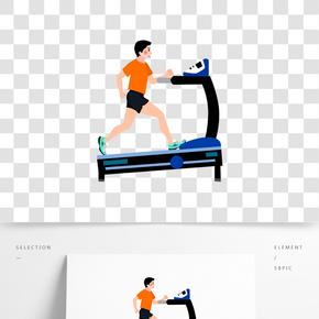 手绘跑步运动的人