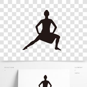 矢量舞蹈班芭蕾剪影