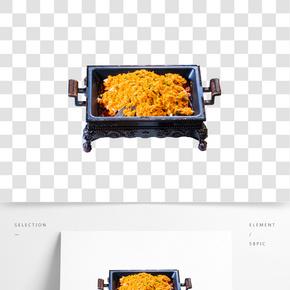 金黃色的蛋炒飯免摳圖