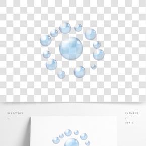 裝飾氣泡卡通插畫