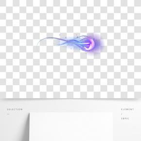 发光的剑气气体插画