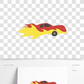 红色炫酷的轿车插画