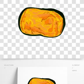 烘焙手撕面包插畫