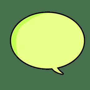 绿色卡通可爱气泡素材下载