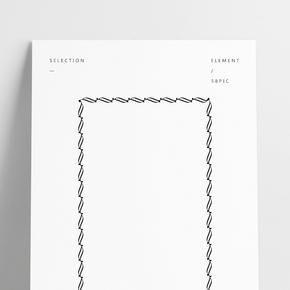 黑白簡約歐式邊框