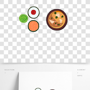 日本飯菜卡通插畫