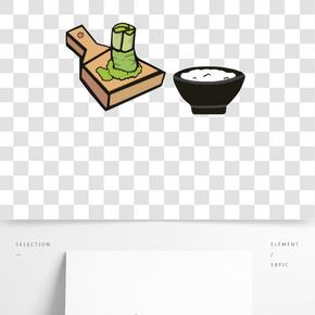日本美食卡通插畫