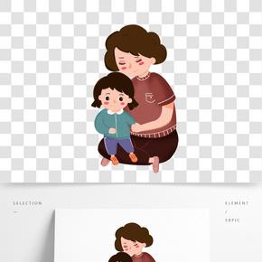 卡通創意母親節裝飾素材