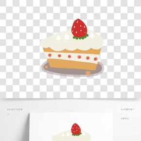 盤子里的水果蛋糕