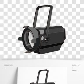 黑色的聚光灯插画