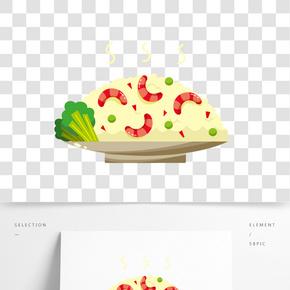 美味的龍蝦炒飯插畫