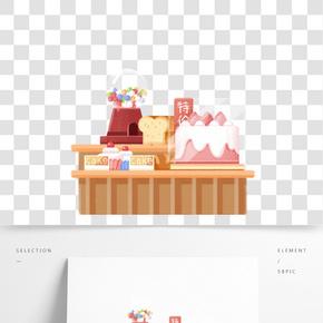新鮮的蛋糕和面包免摳圖