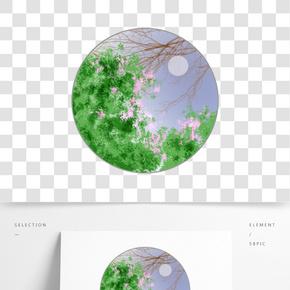 二十四節氣春天綠色