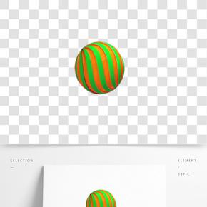 彩色扭曲条纹的球体免抠图