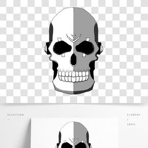 白色简约骷髅插图