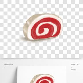甜點面包蛋糕卷插畫