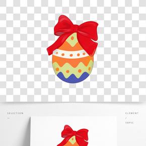 創意蝴蝶結雞蛋插畫