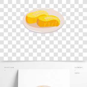 面包甜點小吃插畫