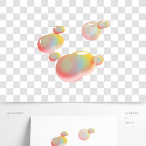 泡沫氣泡卡通插畫