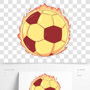 漂亮特效火焰足球