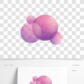 紫色氣泡卡通插畫
