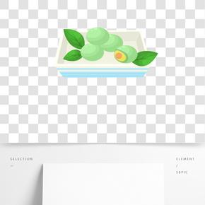 飯菜食物清明插畫
