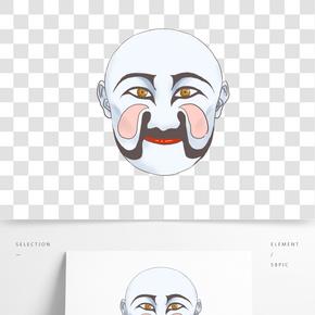 世界京劇日臉譜插畫