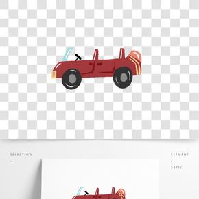 汽车轿车卡通插画